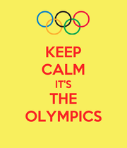 KEEP CALM IT'S THE OLYMPICS - Personalised Large Wall Decal
