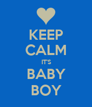 KEEP CALM IT'S BABY BOY - Personalised Poster large