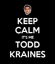 KEEP CALM IT'S ME TODD KRAINES - Personalised Large Wall Decal