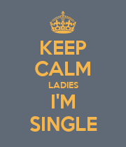 KEEP CALM LADIES I'M SINGLE - Personalised Poster large