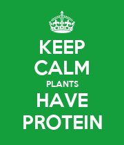 KEEP CALM PLANTS HAVE PROTEIN - Personalised Poster large