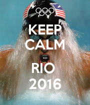 KEEP CALM ... RIO  2016 - Personalised Poster large