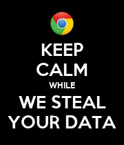 KEEP CALM WHILE WE STEAL YOUR DATA - Personalised Poster large