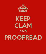 KEEP CLAM AND PROOFREAD  - Personalised Large Wall Decal