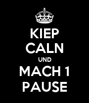 KIEP CALN UND MACH 1 PAUSE - Personalised Large Wall Decal