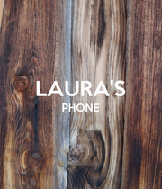 LAURA'S PHONE   - Personalised Large Wall Decal
