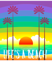 LIFE'S A BEACH - Personalised Poster large