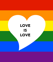LOVE IS LOVE - Personalised Large Wall Decal