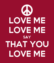 LOVE ME LOVE ME SAY THAT YOU LOVE ME - Personalised Large Wall Decal