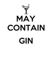 MAY CONTAIN  GIN  - Personalised Poster large