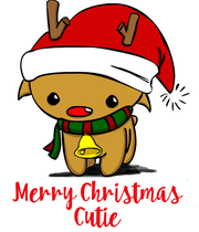 Merry Christmas Cutie - Personalised Poster large