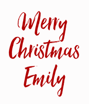 Merry  Christmas Emily - Personalised Poster large
