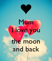 Mum I love you to the moon and back - Personalised Large Wall Decal