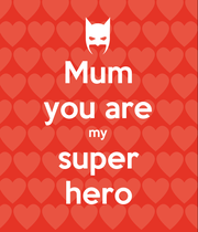 Mum you are my super hero - Personalised Large Wall Decal