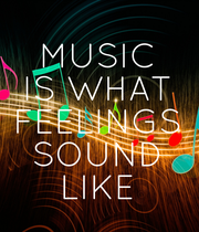 MUSIC IS WHAT FEELINGS SOUND LIKE - Personalised Poster large