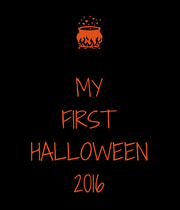 MY FIRST HALLOWEEN 2016 - Personalised Large Wall Decal