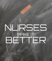 NURSES MAKE IT BETTER  - Personalised Large Wall Decal