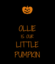 OLLIE IS OUR LITTLE PUMPKIN - Personalised Large Wall Decal