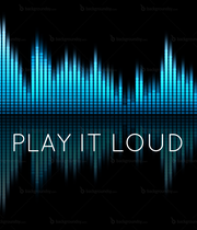 PLAY IT  LOUD   - Personalised Poster large