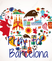 Pray for  Barcelona - Personalised Poster large
