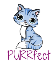 PURRfect  - Personalised Poster large
