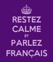 RESTEZ CALME ET PARLEZ FRANÇAIS - Personalised Large Wall Decal