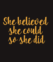 She believed  she could  so she did - Personalised Large Wall Decal