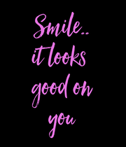 Smile.. it looks  good on you - Personalised Poster large
