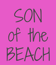 SON of the BEACH - Personalised Large Wall Decal