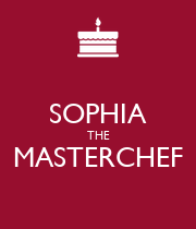 SOPHIA THE MASTERCHEF  - Personalised Poster large