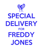 SPECIAL DELIVERY FOR FREDDY JONES - Personalised Large Wall Decal