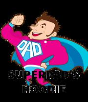 SUPERDAD'S HOODIE - Personalised Large Wall Decal