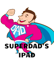 SUPERDAD'S IPAD - Personalised Poster large