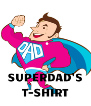 SUPERDAD'S T-SHIRT - Personalised Poster large