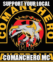 SUPPORT YOUR LOCAL COMANCHERO MC - Personalised Poster large