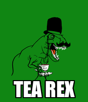 TEA REX - Personalised Large Wall Decal