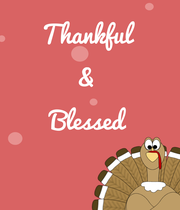 Thankful  &  Blessed   - Personalised Large Wall Decal