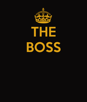 THE BOSS    - Personalised Poster large