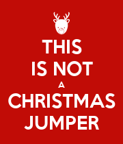 THIS IS NOT A CHRISTMAS JUMPER - Personalised Large Wall Decal