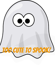 TOO CUTE TO SPOOK! - Personalised Large Wall Decal