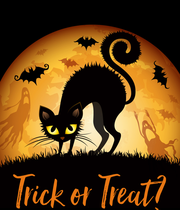 Trick or Treat? - Personalised Poster large