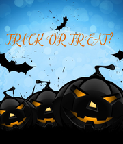 TRICK OR  TREAT? - Personalised Large Wall Decal