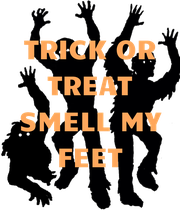 TRICK OR TREAT SMELL MY FEET  - Personalised Large Wall Decal