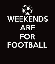 WEEKENDS ARE FOR FOOTBALL  - Personalised Large Wall Decal
