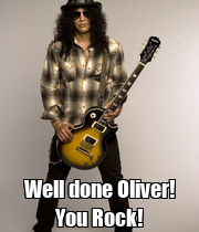 Well done Oliver! You Rock! - Personalised Poster large