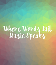 Where Words  Fail Music Speaks - Personalised Poster large