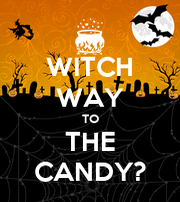 WITCH WAY TO THE CANDY? - Personalised Poster large