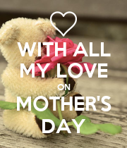 WITH ALL MY LOVE ON MOTHER'S DAY - Personalised Poster large