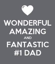 WONDERFUL AMAZING AND FANTASTIC #1 DAD - Personalised Large Wall Decal