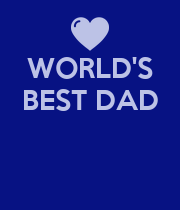 WORLD'S BEST DAD    - Personalised Poster large